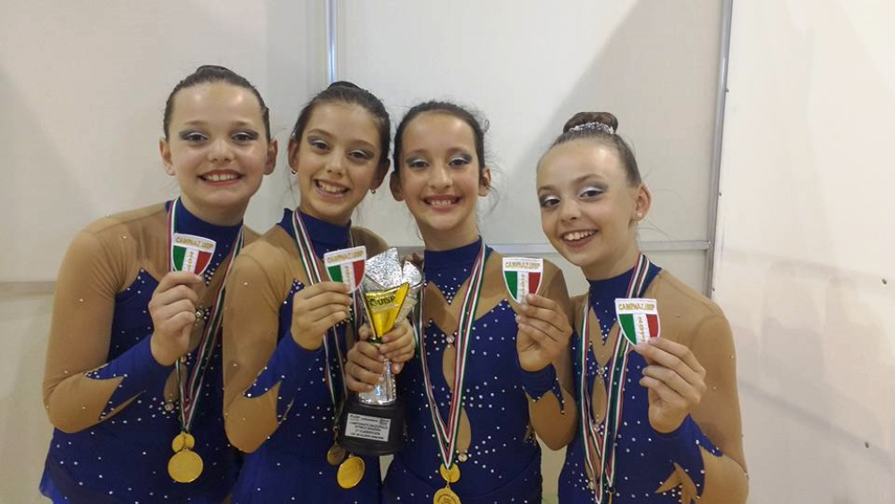 Allegra Emma Alexandra e Alessia Campionesse Nazionali Sq. Cat. AB