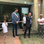 Inaugurazione della mostra. Con Moreno Cheli presidente Crc Chiesanuova