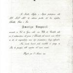 Le partecipazioni per la morte di Amerigo Cesare Vespucci